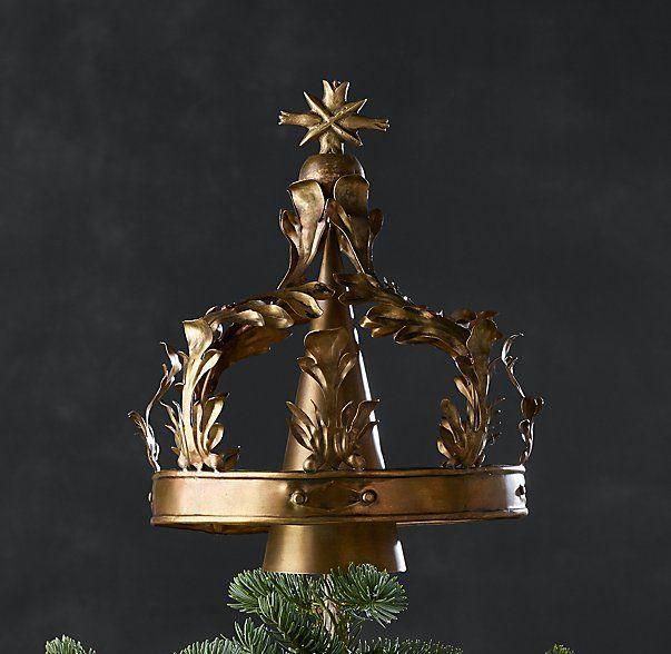 Crown Tree Topper Brass Tree Toppers Handblown Glass