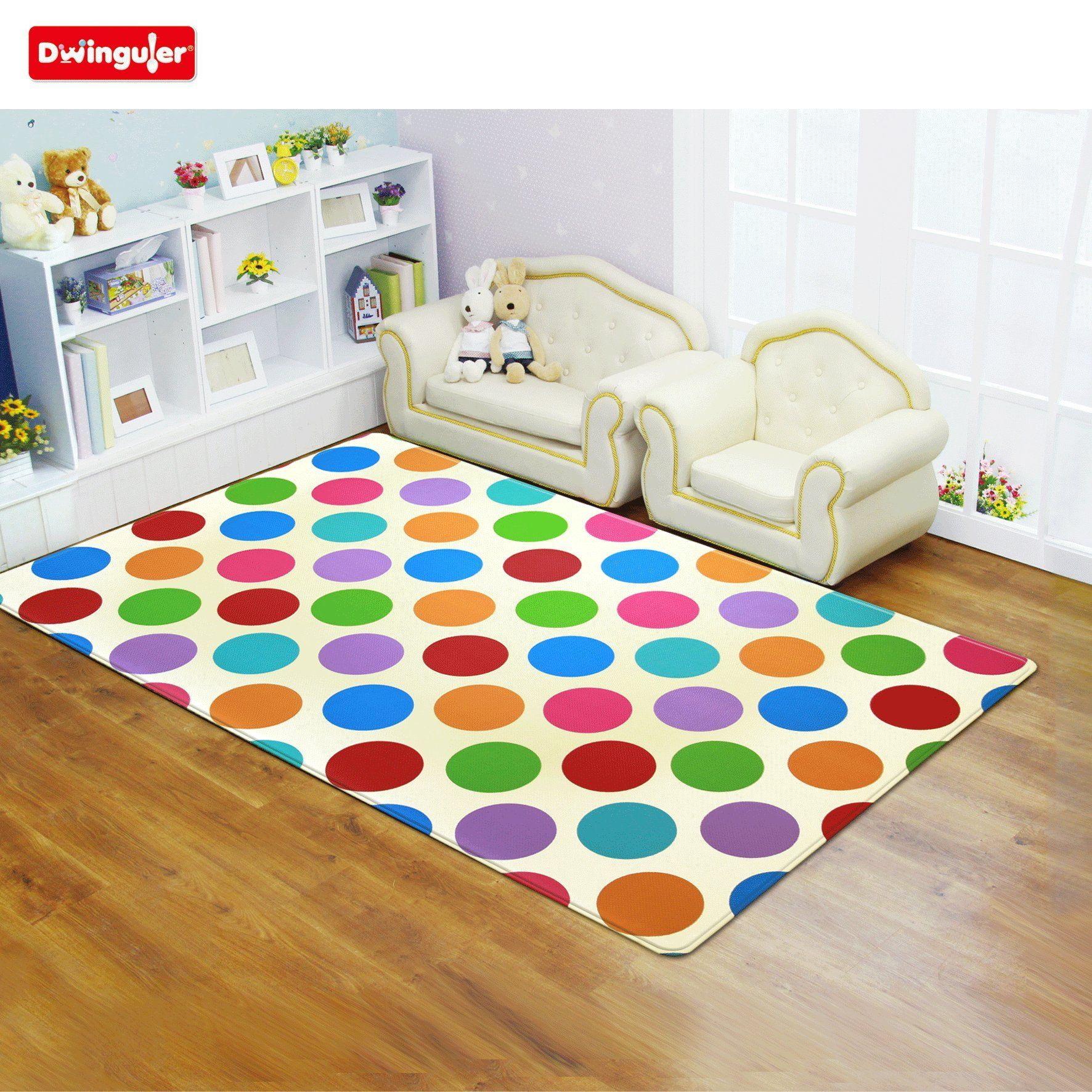Amazon Dwinguler Eco friendly Kids Play Mat Polka Dots