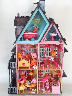 The haunted lake house... sew cool & creepy  custom #dollhouse for #Lalaloopsy #dolls!