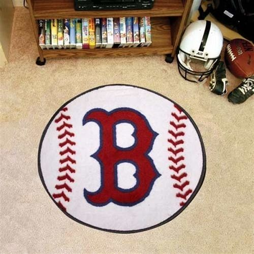 Boston Red Sox Baseball Shaped Area Rug Floor Mat I Should Ve Bought This