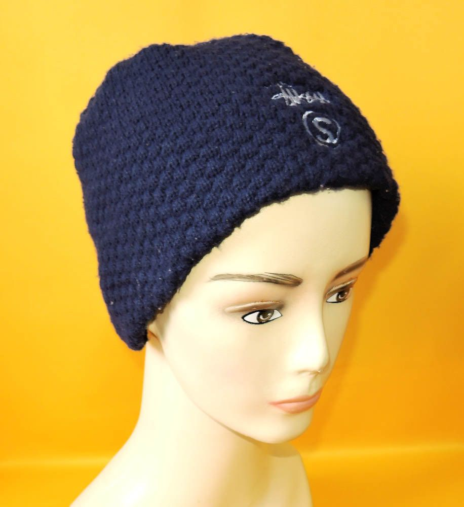 a20474a792c45b Stussy Beanie Ski Hat Vintage Solid Navy Blue Signature Logo Designer Acrylic  Snow Cap Made In USA by InPersona on Etsy