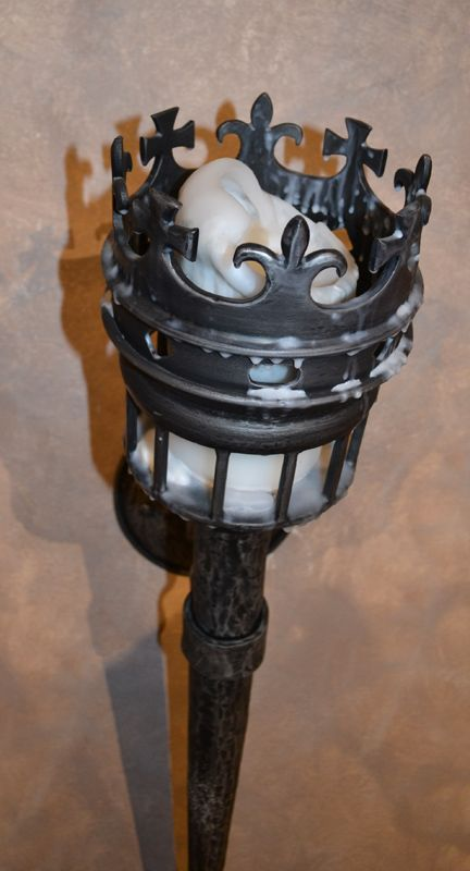 Custom Crown Torch Sconce Meval Castle Inspired Wall