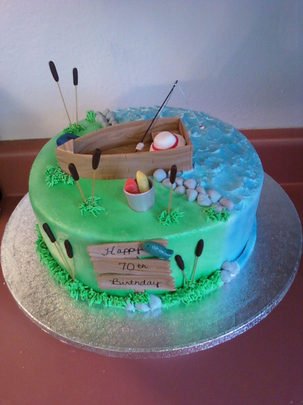 fishing Cakes Pinterest Fish, Cake and Birthdays