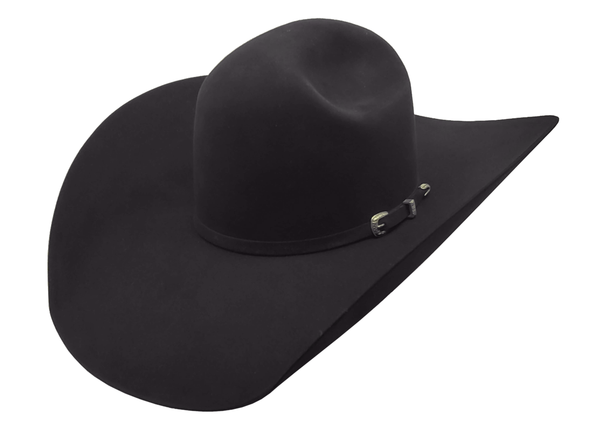 Style Pictured (Puncher Crease) Atwood Hat Company Black Felt Hat With 5