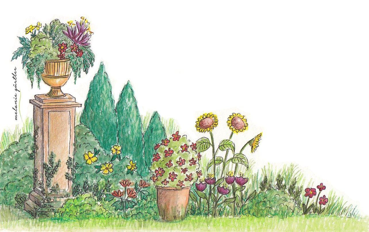 Aquarell Illustration Garten Und Florales Kinderbuch Melanie