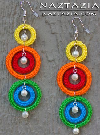 Farb-und Stilberatung mit www.farben-reich.com - Crochet Earrings                                                                                                                                                      Mehr