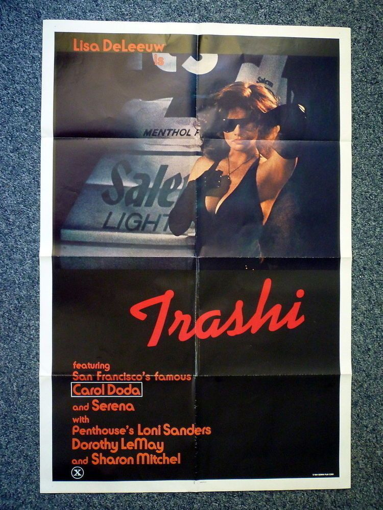 Trashi Original 1981 American One Sheet Movie Poster Dorothy Lemay Loni Sanders