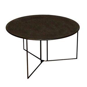 265 table basse pliante ronde en m tal patin noir chehoma table basse verbier black coffee - Chehoma table basse ...