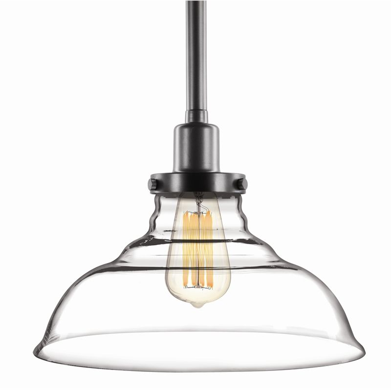 brilliant milton clear glass pendant light shade industrial glassshade