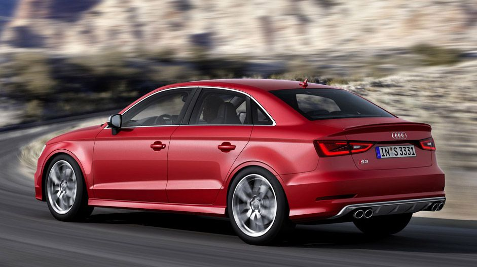 2014 Audi A3 Sedan Red Color Car Picture Collection