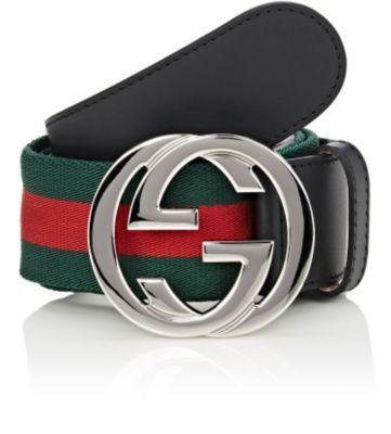68120027e GUCCI Striped Elastic & Leather Belt. #gucci #belt   Gucci Men ...