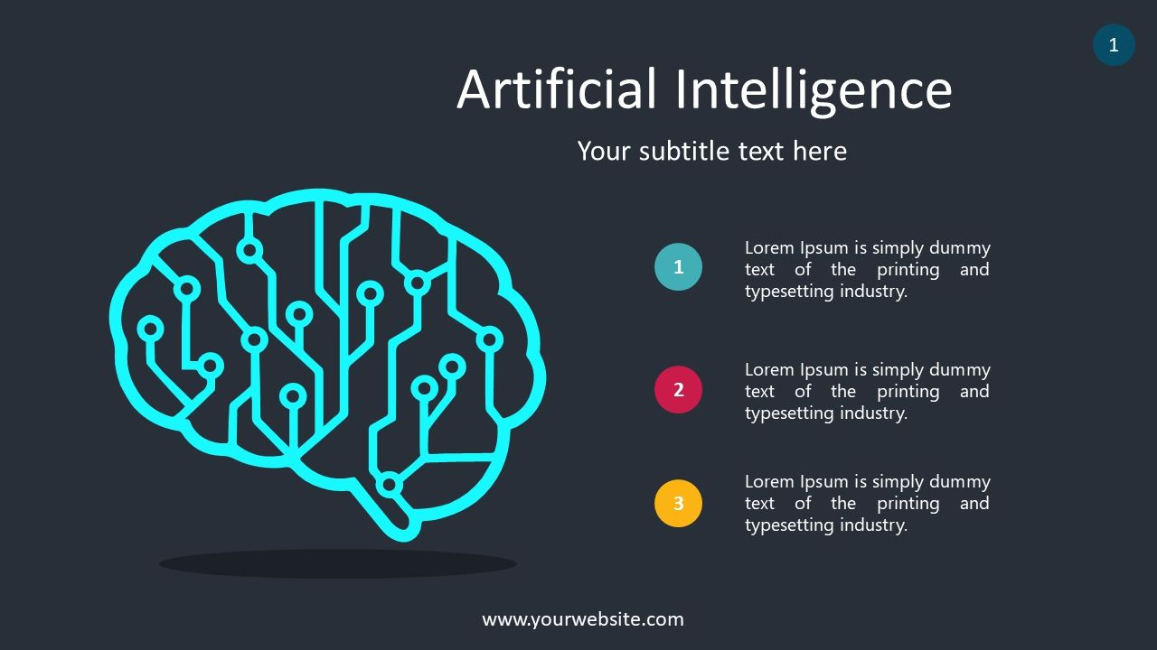 Free Artificial Intelligence Slides Powerpoint Template