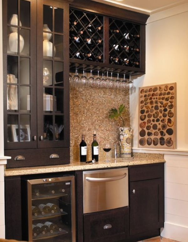 Small But Charming And Beautifully Organized Kitchenettes Home Wine Bar Bars For Home Kitchen Remodel