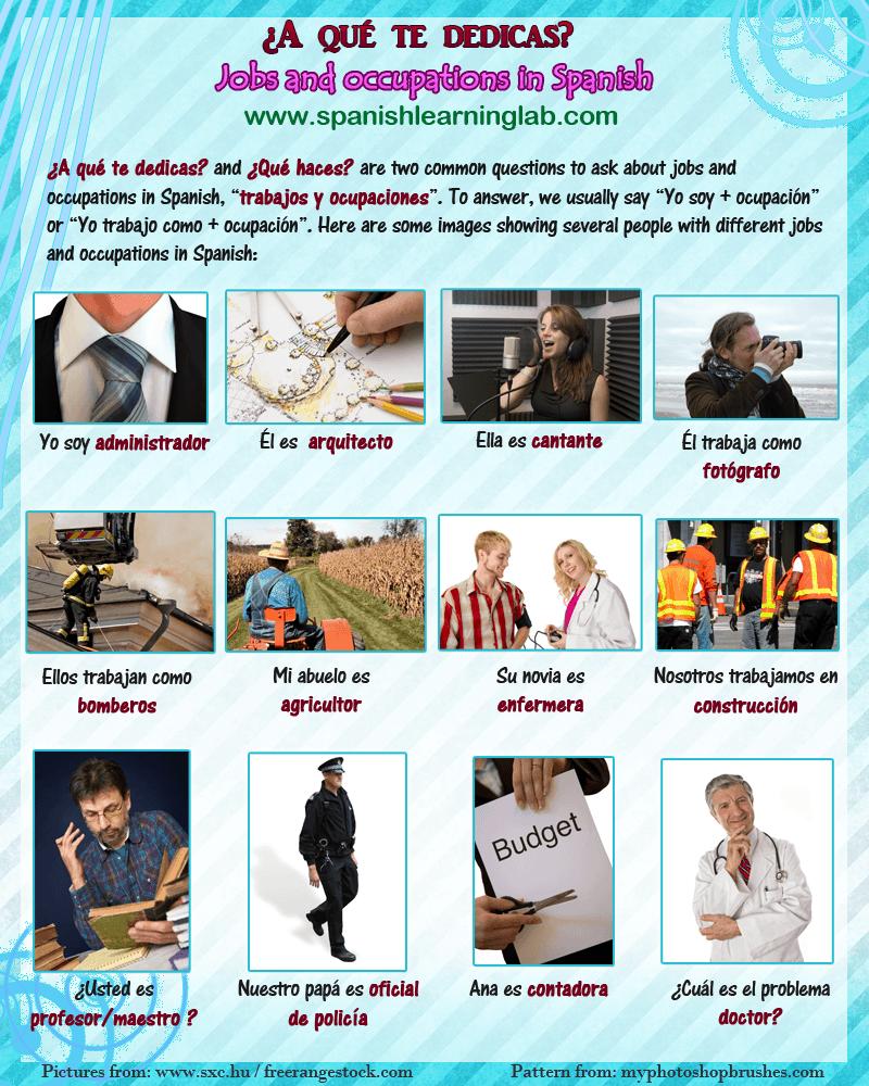 presentation of job vocab listening activity and reading