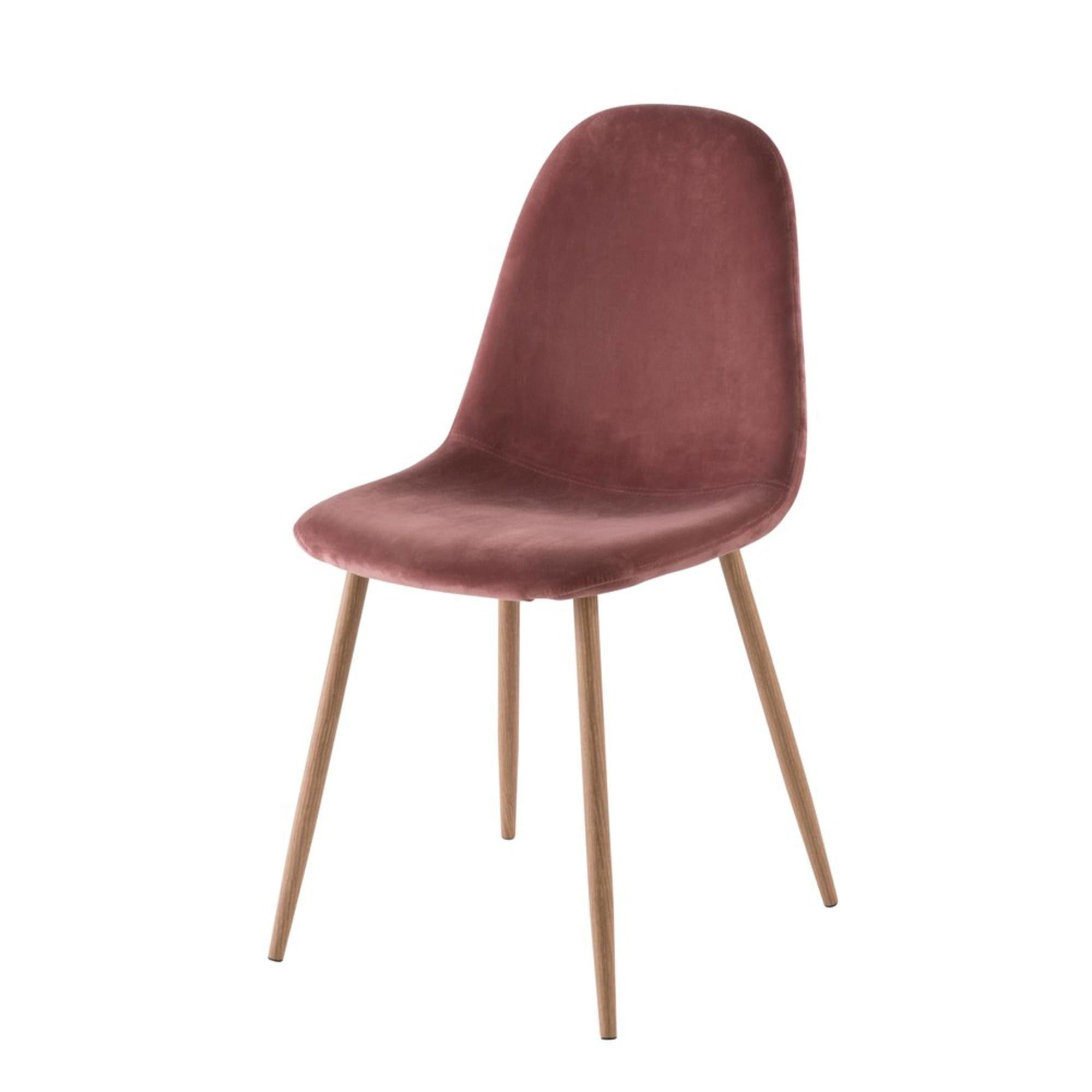 Skandinavischer Stuhl Altrosa Samtbezug Clyde Maisons Du Monde In 2020 Skandinavische Stuhle Stuhle Und Altrosa