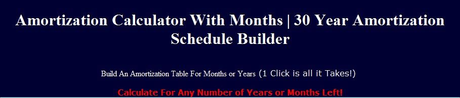 this amortization calculator will instantly build an amortization