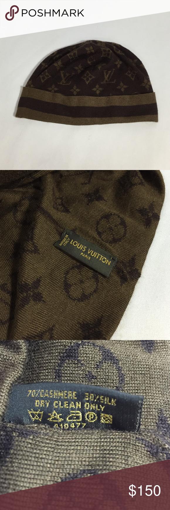 Louis Vuitton Classic Monogram Beanie Authentic 100% authentic Louis Vuitton  classic monogram beanie in excellent d06203ee041