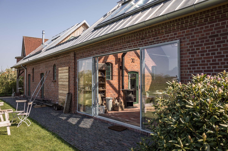 Wintergarten, Studio, Atelier, Garten, Scheune, Pflaster, Leiter, Werkzeuge,