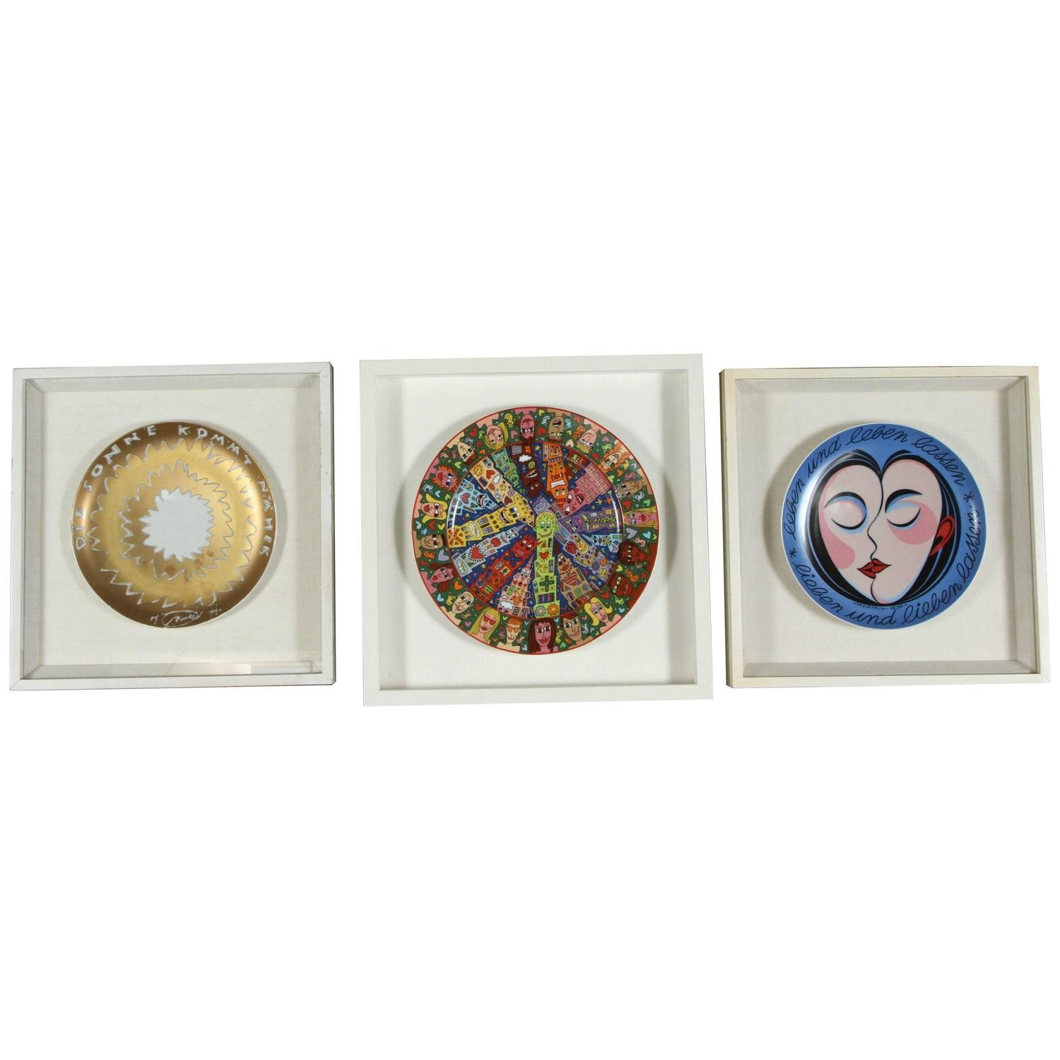Rosenthal Collectible Set of Three Framed Plates 1  sc 1 st  Pinterest & Rosenthal Collectible Set of Three Framed Plates | Modern decorative ...