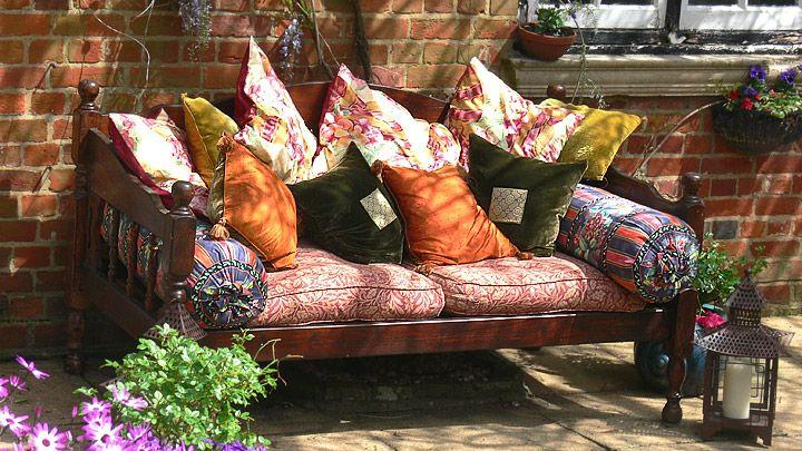 Muebles en el jardin