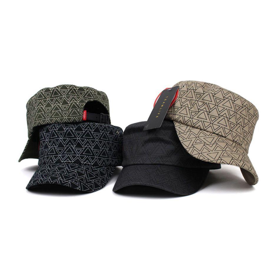 356928de4ca Et54 Teamlife Triangle Line Women Cadet Military Cap Adjustable Army Cap Hat