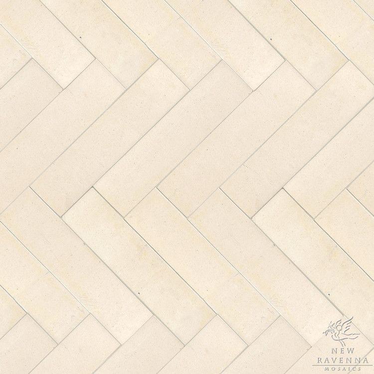 Herringbone Ivory Cream Tile Ravenna