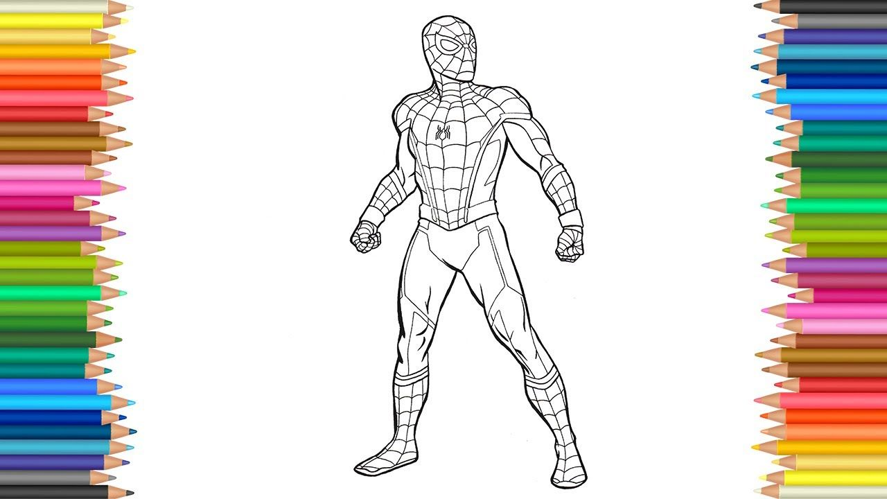 SpiderMan Coloring Page l Coloring Markers
