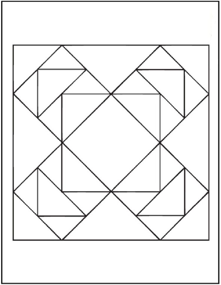 Simple Quilt Coloring Pages Geometric Coloring Pages Coloring