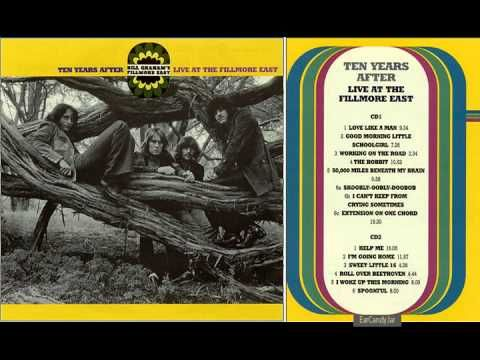 Alvin Lee Ten Years After Spoonfull Fillmore East Concert 1970 Fillmore East Romantic Music Ten