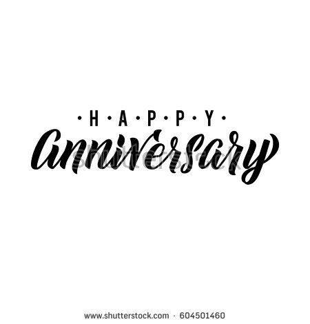 happy anniversary calligraphic background elegant holiday black vector lettering happy anniversary poster