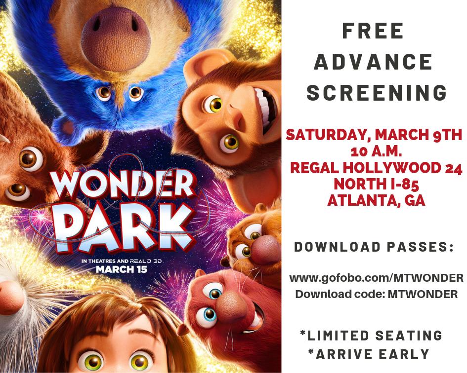 Get Free Passes to the Atlanta Wonder Park Movie Screening: Saturday, March 9th #WonderPark #moviescreening #paramount #ATL #ATLFamily