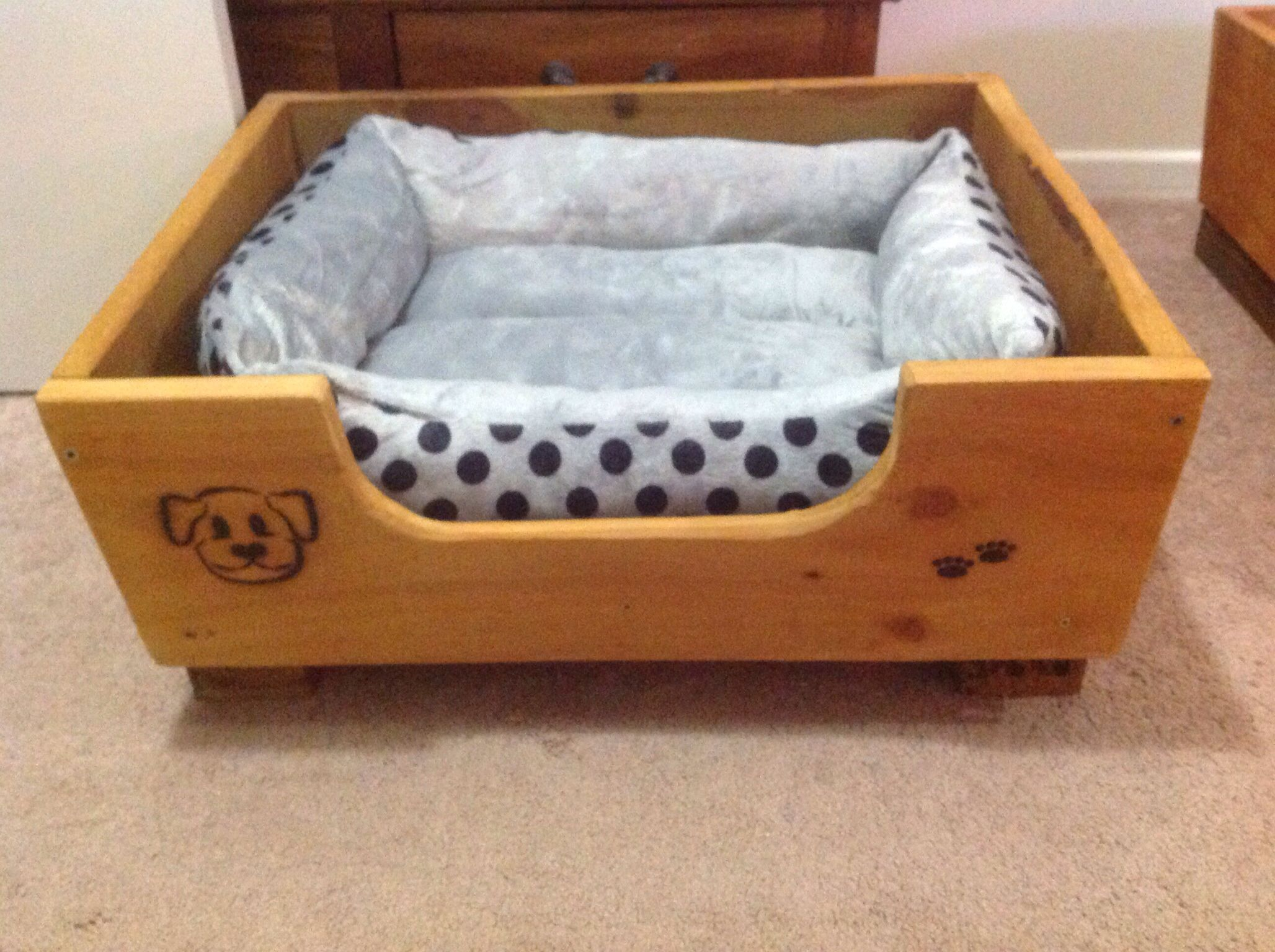 Small dog bed made from recycled pallet by Touchwood ...