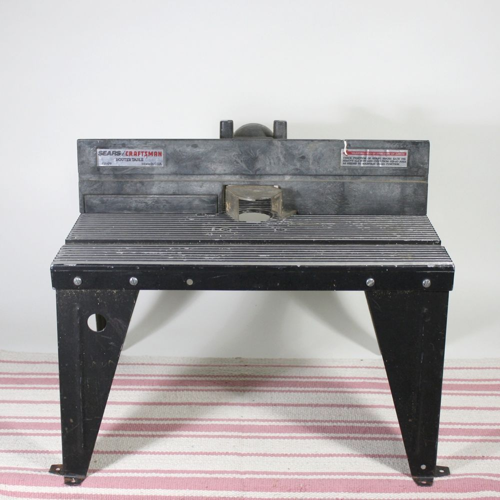 craftsman router table steel construction black usa made model 925479 craftsman [ 1000 x 1000 Pixel ]