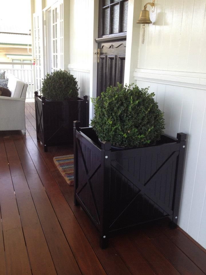 Black Planter Boxes Customer House In Brisbane Www Theporch Com