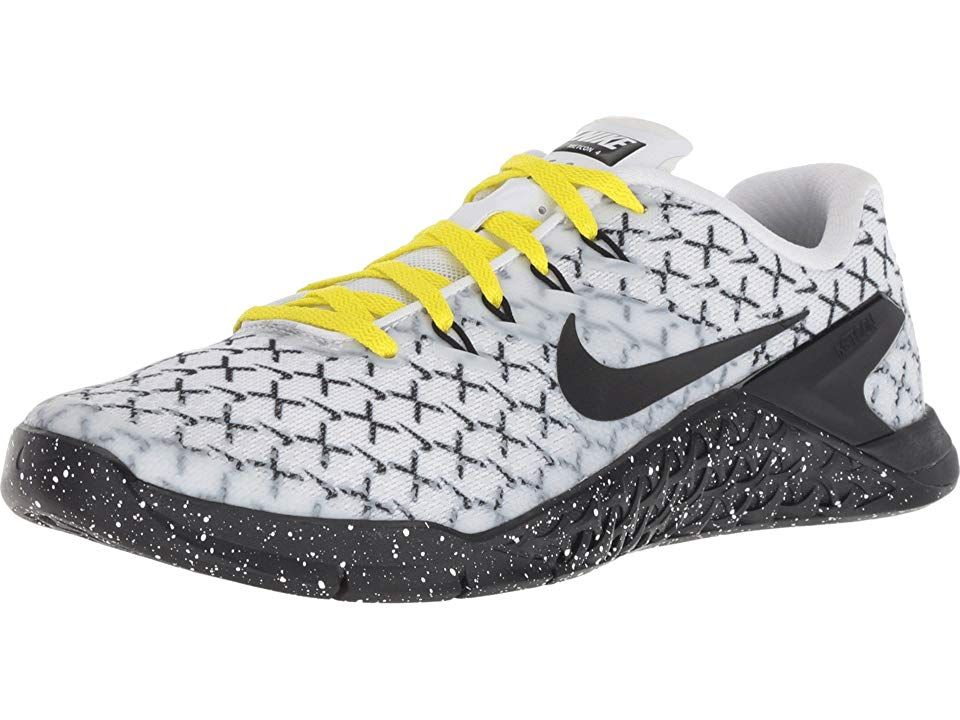 114e8953220e Nike Metcon 4 AMP Training Women s Cross Training Shoes White Black Dynamic  Yellow