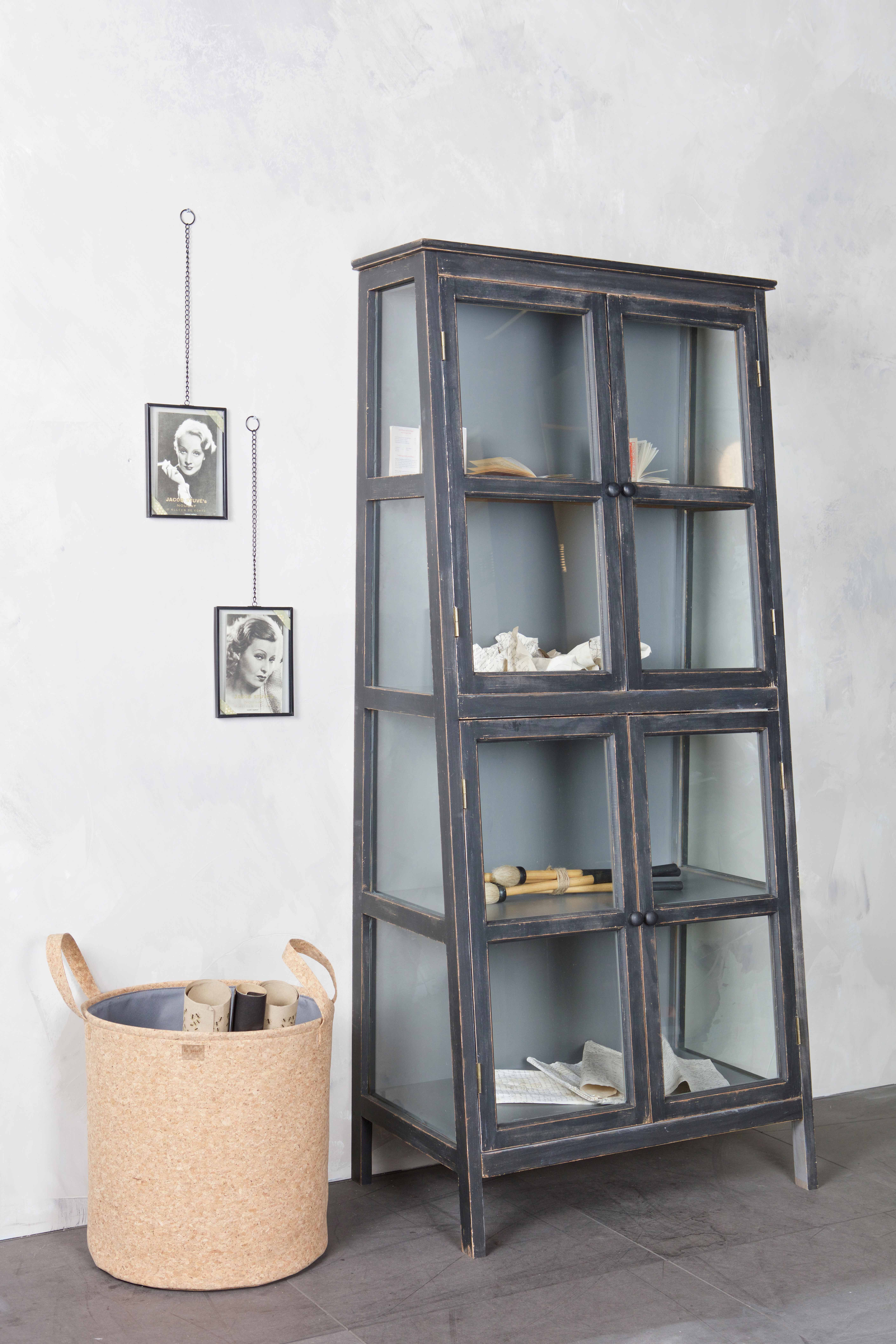 Photo of Our wooden Herritage cabinet with the Xpose photo frames and the Cork basket by …