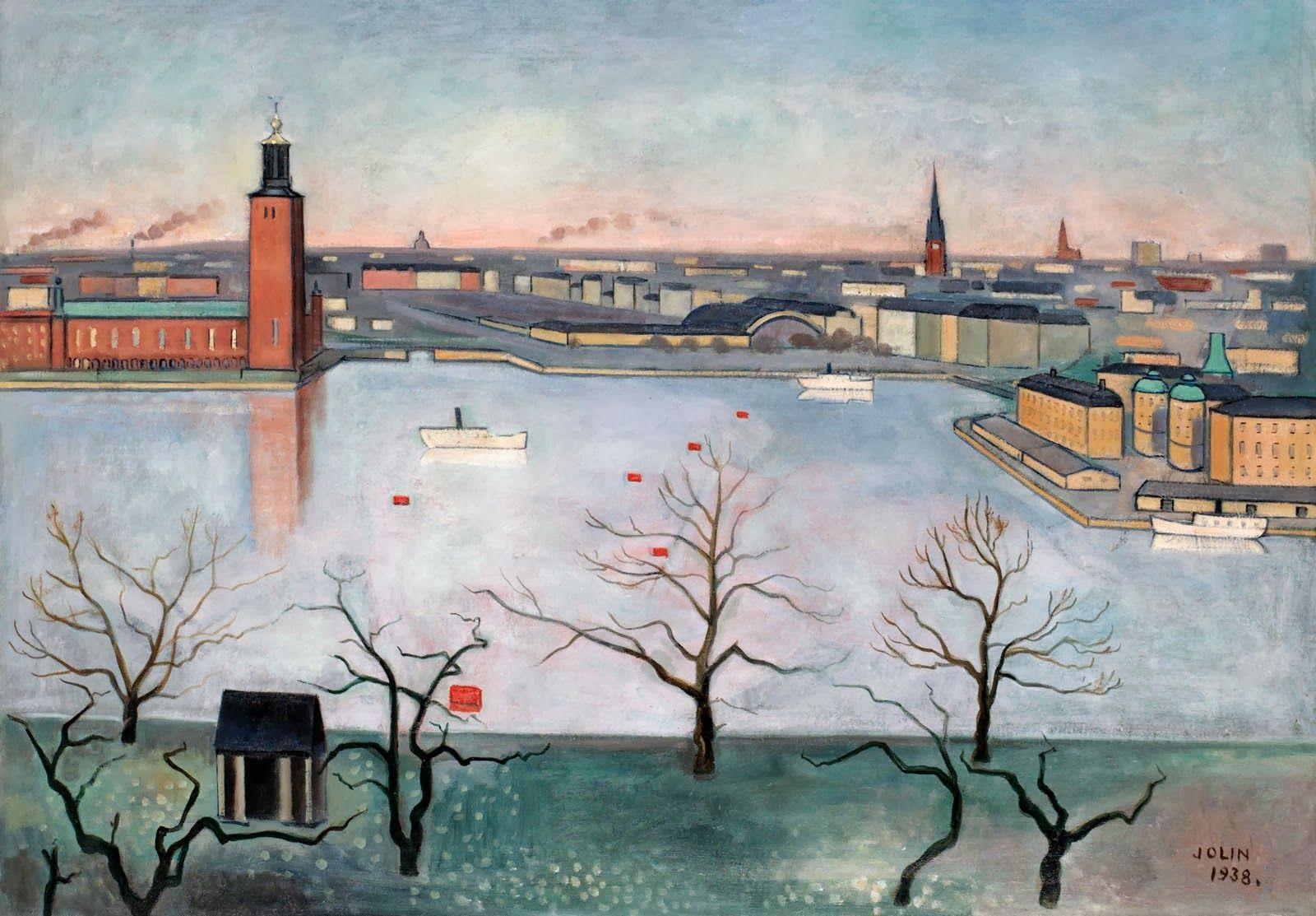 Einar Jolin Stockholm Fran Soder Ii 1938 Scandinavian Art Art And Architecture Cool Artwork