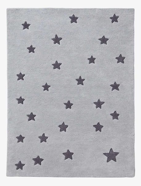 Bezaubernder Kinderzimmer Teppich Voller Sterne! Der Getuftete, Das Heißt  Von Hand Gearbeitete, Kinderteppich Mit Sternen Verbreitet Eine Traumhaft  Schöne ...