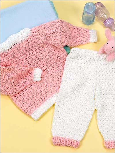 Dress your little one in crocheted softness and warmth in this ...