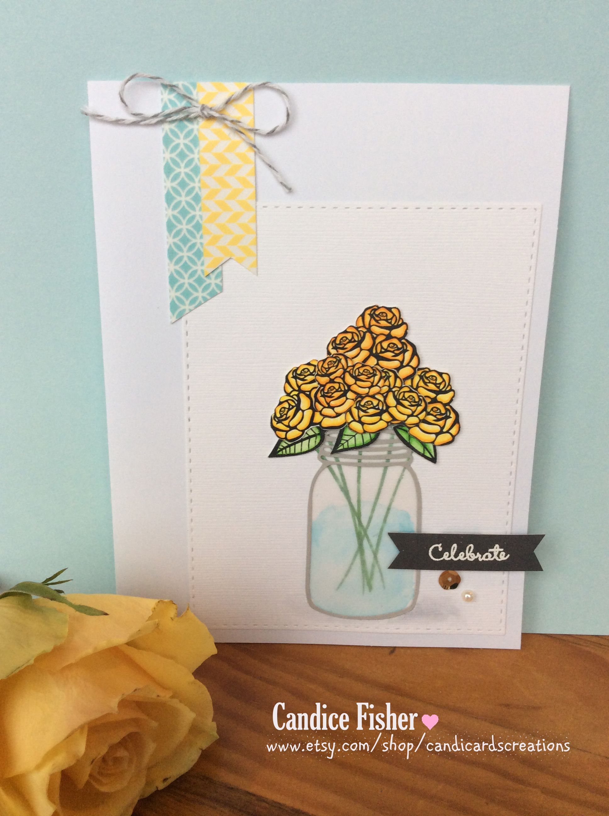 I Love The Water Effect In The Mason Jar From The Vellum Paper And