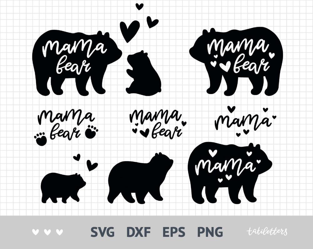 Mama Bear Svg Bear Family Svg Files For Cricut Mama Svg Etsy Mama Bear Bear Paintings Create Digital Product