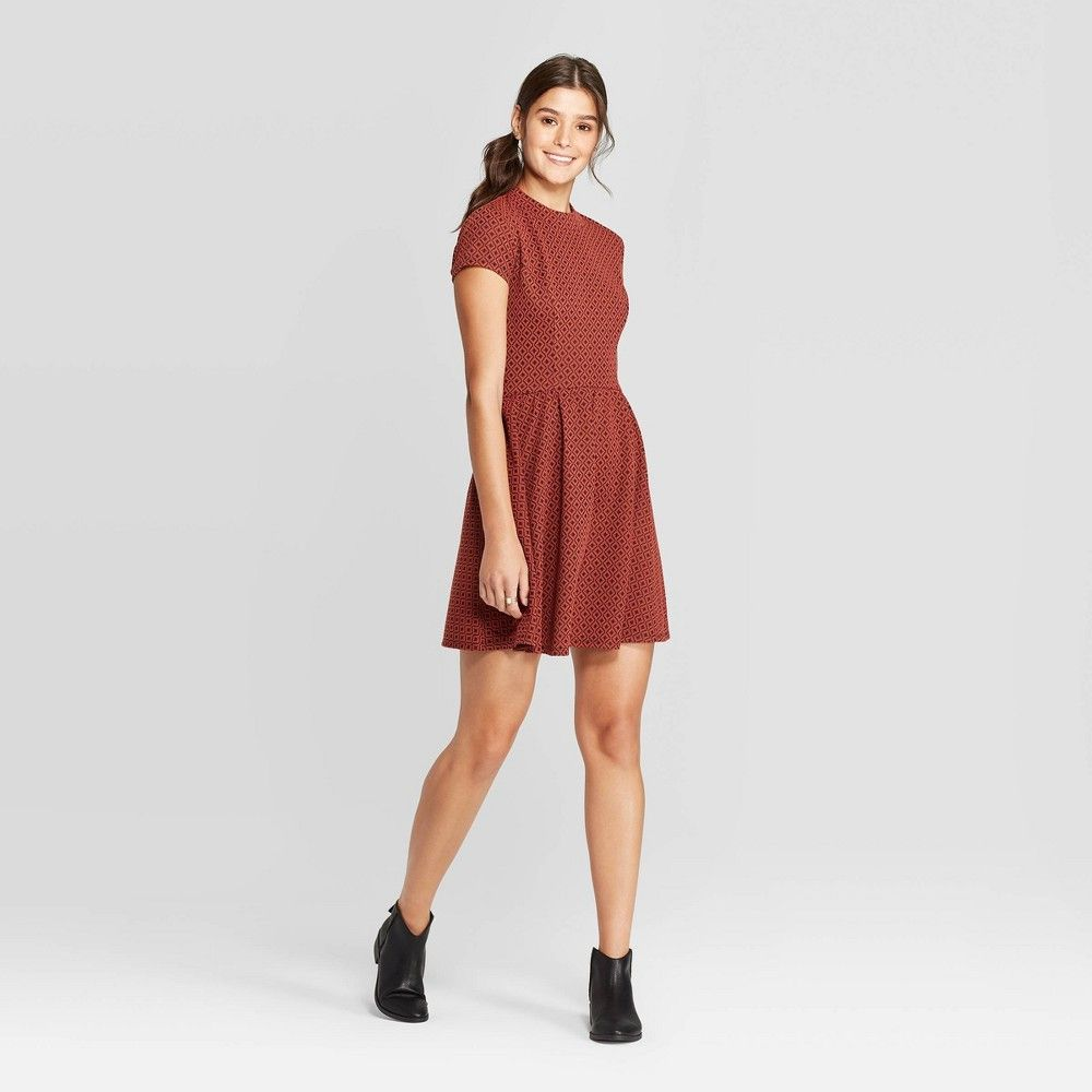 Petitewomen S Short Sleeve Mock Turtleneck Knit Mini Dress Xhilaration Rust Xs Women S Red Knit Mini Dress Turtle Neck Dress Long Sleeve Sweater Dress [ 1000 x 1000 Pixel ]