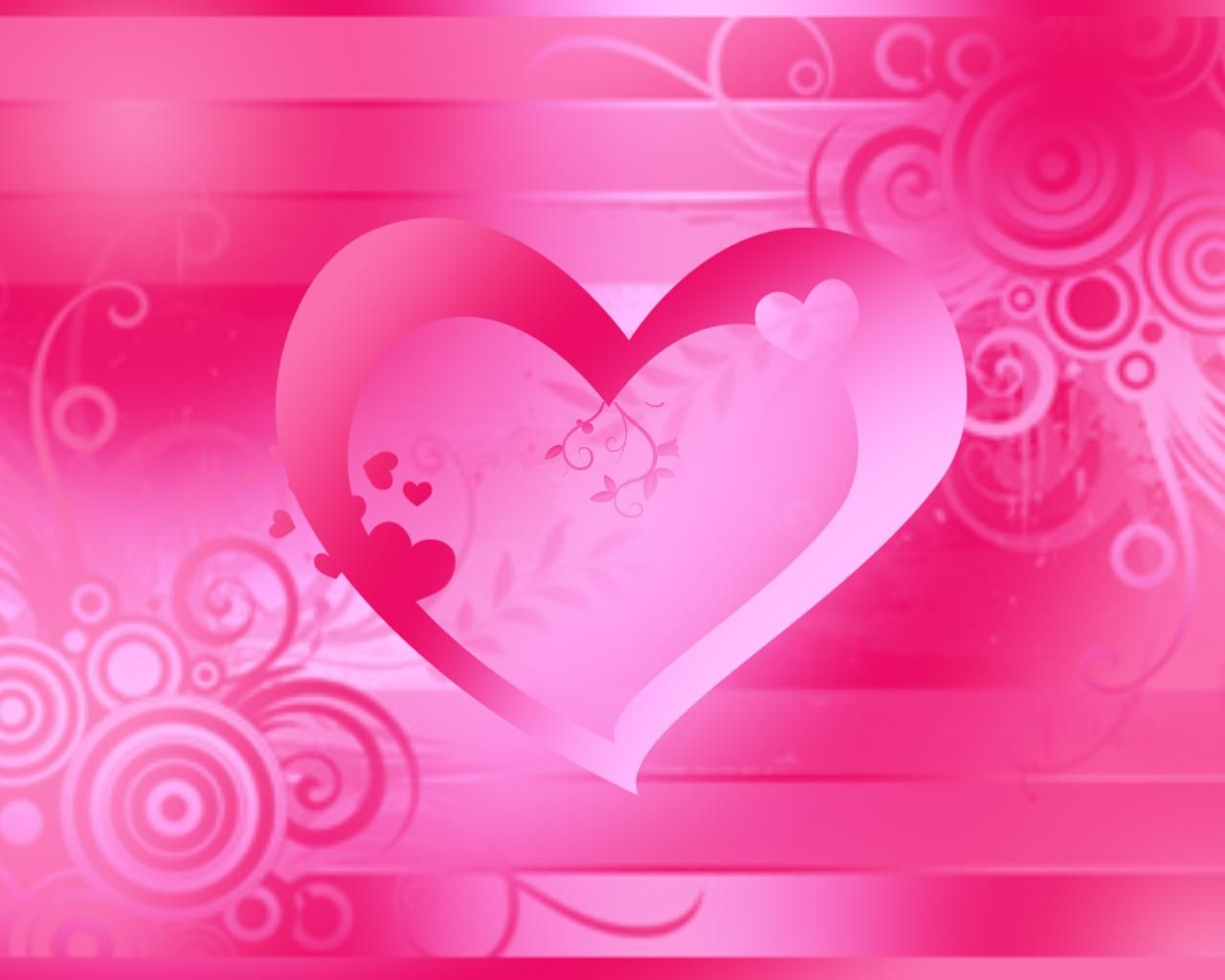 cute Pink Heart Wallpaper