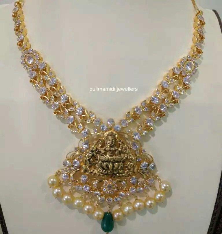 Pin by neethashyni neethashyni on Diamond Necklaces | Pinterest ...