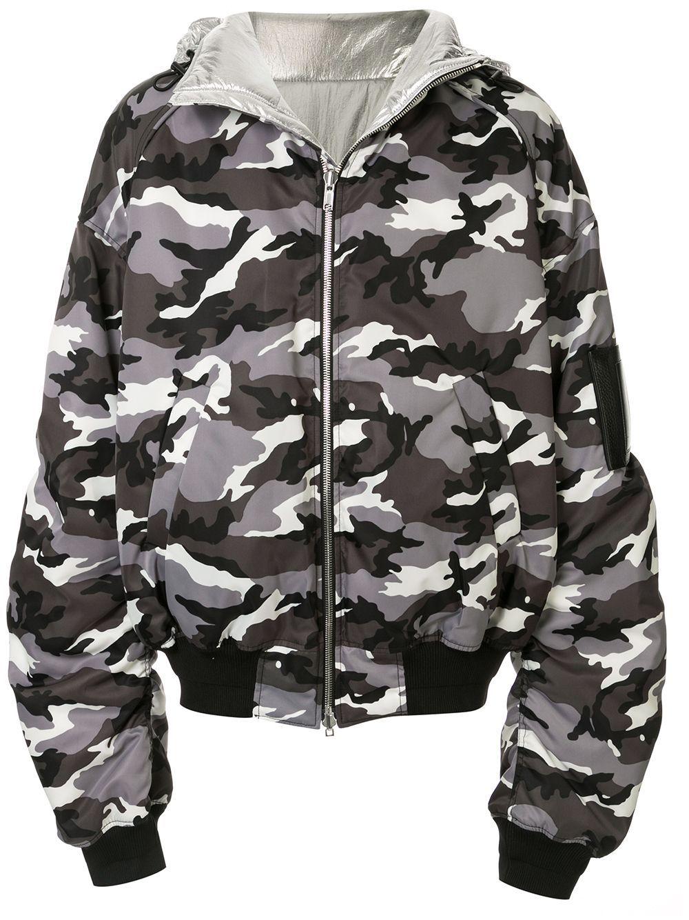 Juun J Camouflage Print Hooded Bomber Jacket Farfetch Hooded Bomber Jacket Bomber Jacket Black Bomber Jacket [ 1334 x 1000 Pixel ]