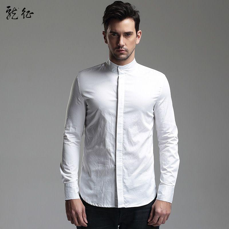 51e6ef29a Fabulous Hidden Button Non-Iron Shirt for Men - White - Chinese Shirts &  Blouses - Men