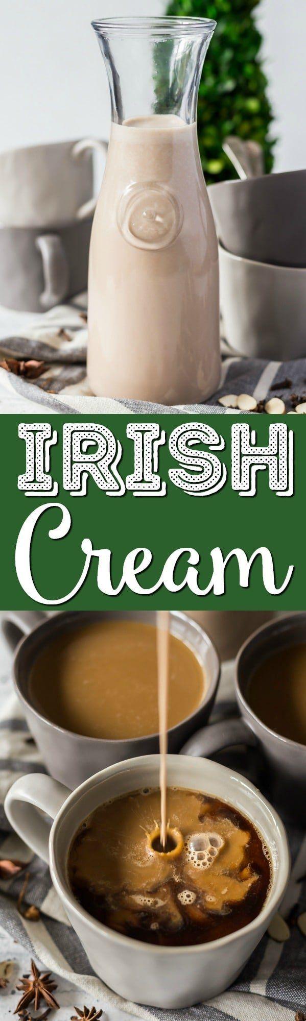 This Homemade Irish Cream Recipe is way better than the