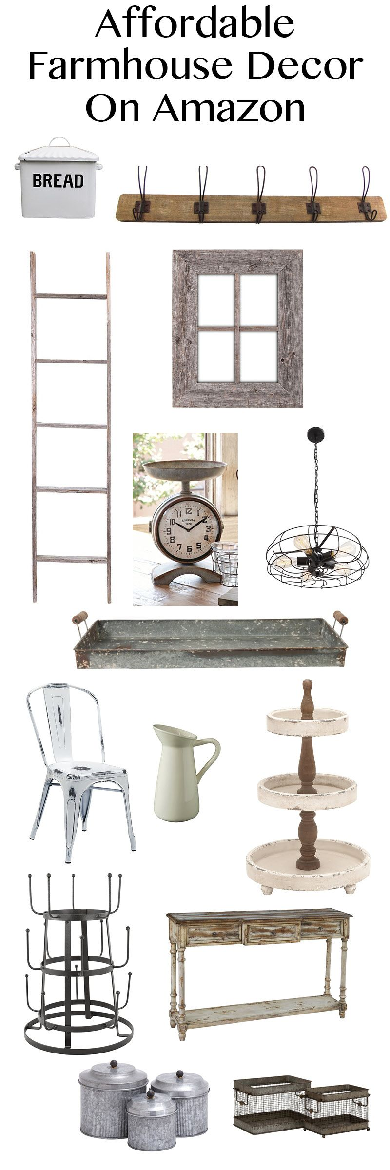 Affordable Farmhouse Decor on Amazon! Tons of great items