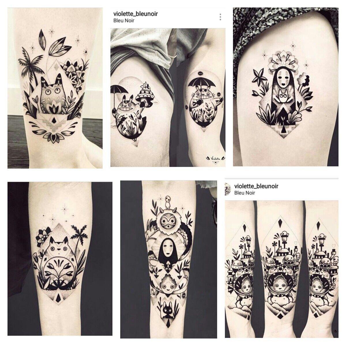 studio ghibli tattoos by violette bleunoir on instagram tattoo inspiration pinterest. Black Bedroom Furniture Sets. Home Design Ideas