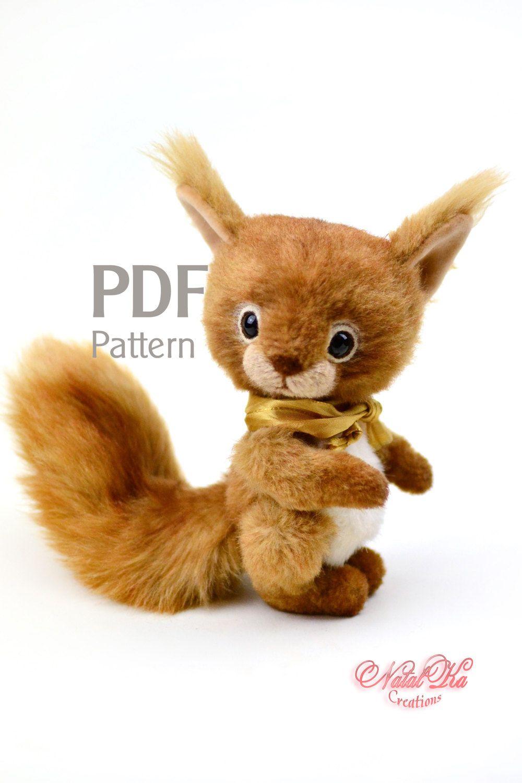 PDF pattern artist teddy squirrel Rani 6.1 in, ePattern, squirrel ...